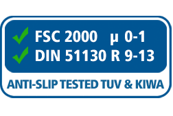 TUV, KIWA, FSC, DIN, Anti-slip tested