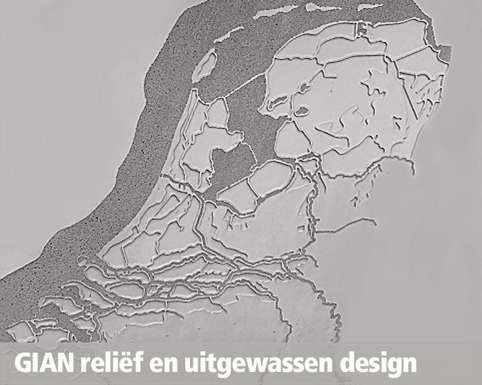 GIAN Concrete Art, design in beton, relief en uitgewassen design