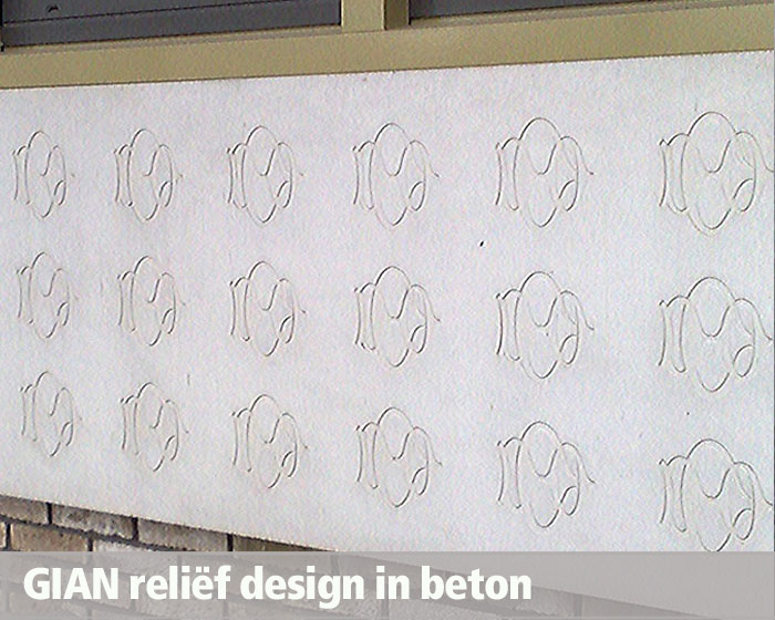 GIAN Concrete Art, computergestuurd design, relief design, afbeelding in beton