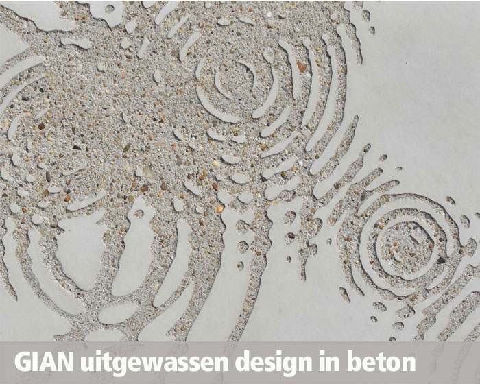 GIAN Concrete Art, uitgewassen design in beton